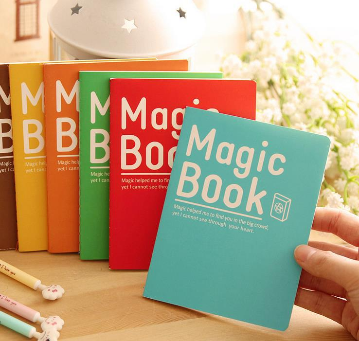 A6 size creative magic book stitch notebook stationery products pocket notepads school memo pads office supplies 5pcs/lot ARC707(China (Mainland))