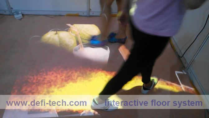 Low price interactive floor projection system, interactive projection floor system software for interactive advertising(China (Mainland))