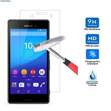 3/SET For Sony Xperia E5 F3311 F3313 New Premium Tempered Glass HD Screen Protector 0.26mm 2.5D Rounded Edge Pro 9H(China (Mainland))