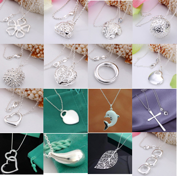 A11 // New Big promotion wholesale fashion 925 jewelry Chain silver plated Necklace, Factory Price hot sale Pendant Necklace(China (Mainland))