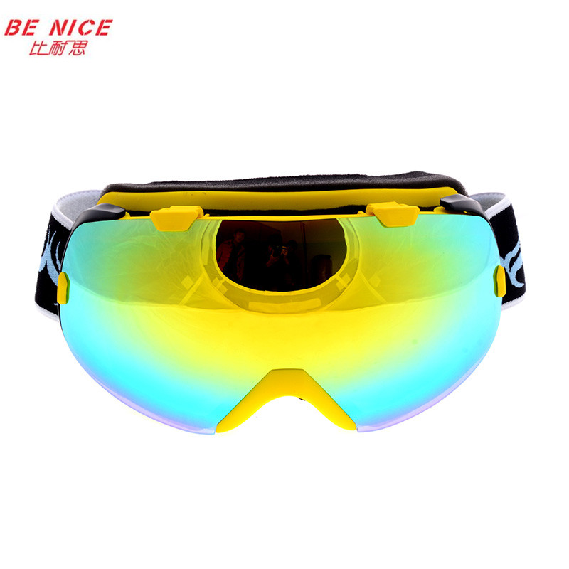 Outdoor Brand Winter Ski motocross eyewear double lens anti-fog big spherical professional SNOW Sports glasses snowboard goggles
