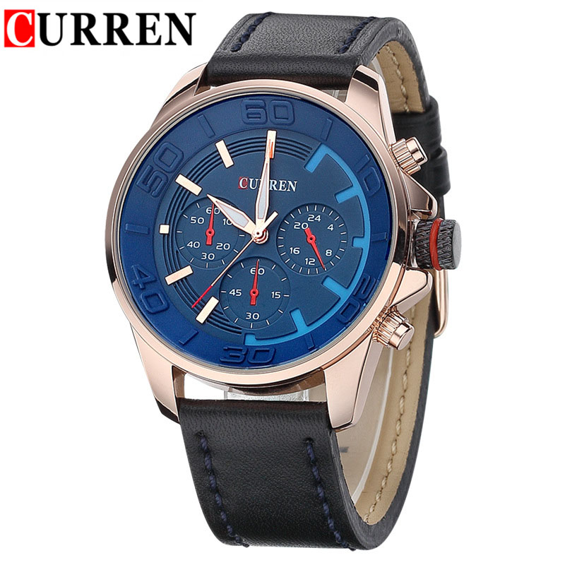 2016 Curren Brand Design Relojes Hombre Luxury Man Army Watch Fashion Casual Sports Male Watches Leather Straps Men Cool Clocks(China (Mainland))