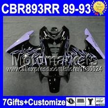 7gifts HONDA CBR900RR CBR893RR Purple flames 89-93 CBR 893RR 89 90 91 93 6D36 92 1992 NEW Black 1989 1990 1991 1993 Fairing - Motomarkets store
