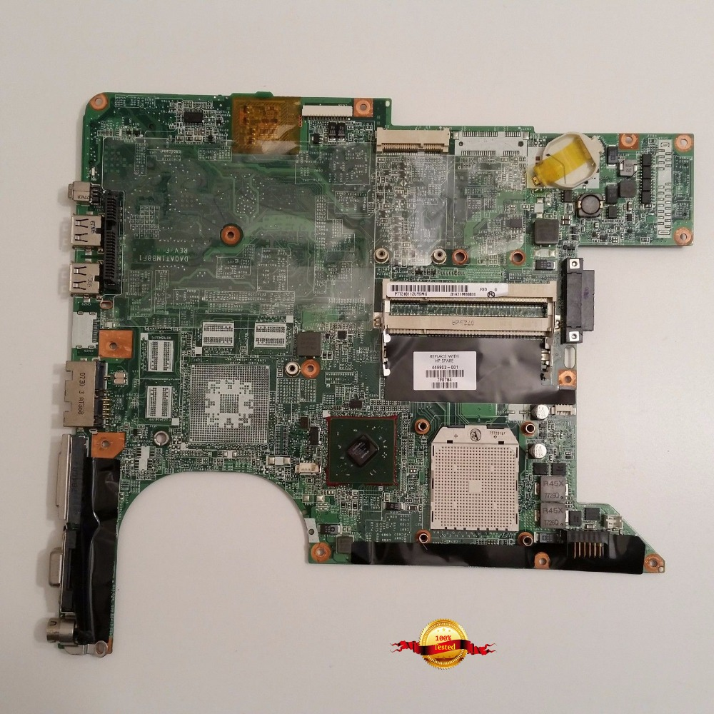 461069-001 Top quality for hp dv9000 motherboard 447983-001 PM965 motherboard in good condition(China (Mainland))
