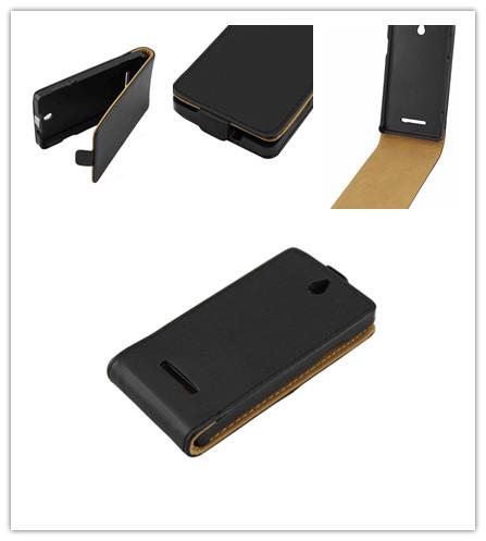 Sony Xperia E Dual /C1605 /C1505 Flip Case Open Skin Cover Black - Miss Chen in Shenzhen store