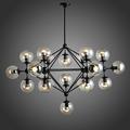 110v 220v Loft Modern Vintage Pendant Lights Iron Glass Ball Lampen Pendente Iluminacao Industrial Lamp Kitchen
