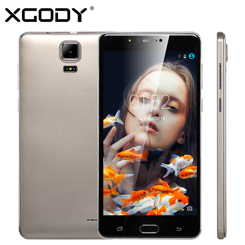 XGODY K65 Smartphone 6 inch MTK6580 Quad Core 2.0GHz 1GB RAM 8GB ROM 5.0MP Android 5.1 Mobile Cell Phone Dual SIM Unlocked(China (Mainland))