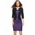 New 2016 Autumn Dress Lace Pencil Office Dresses for older women mother s gift with Belt