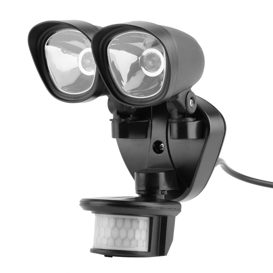 Lighting Dual Head LED Plug-in Floodlight with Light Human Infrared Sensor new arrival<br><br>Aliexpress