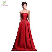 Vestido Formatura 2016 Bridal Simple Strapless Sleeveless Wine Red Danni Slim Long Prom Dress Custom Party Formal Evening Gown(China (Mainland))