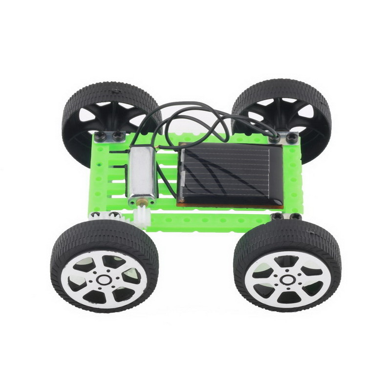 DIY Solar Toy Car Assemble Solar Vehicle Mini Solar Energy Powdered Toys Racer Child Kid Solar Car Education Kit VB217 P(China (Mainland))