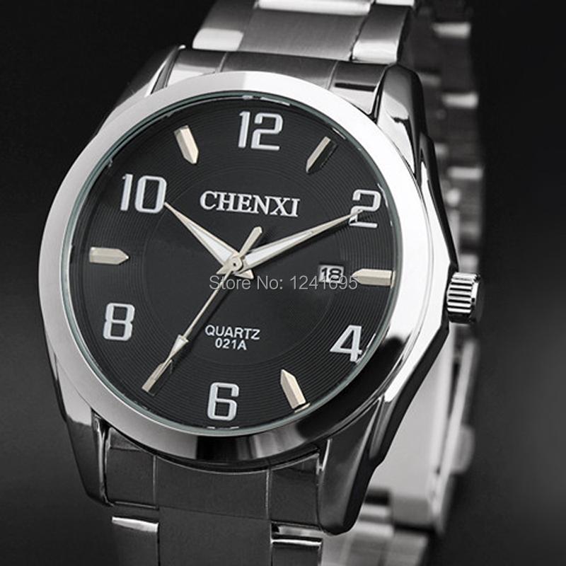 CHENXI watches men Stainless Steel Brand quartz watch men wristwatches boys Fashions Clock Analog Quartz men's watches