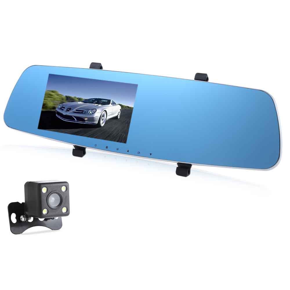 Car DVR Rear-view Mirror Full HD 1080P Vehicle Traveling Data Recorder GPS G-sensor Night Vision RH - 655 5 Inch Dual Lens(China (Mainland))
