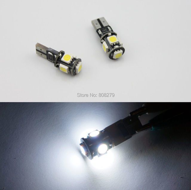4 pieces / Lot -- Canbus T10/w5w/194/501 5 SMD No Error LED White License Plate light Interior Can Bus Light