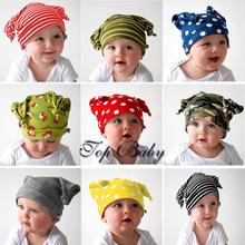 Accessories kids baby Hat Cap for boy/girl children head devil horns cotton Beanies Baby Boy Photo Props Hats Skull elsstic(China (Mainland))