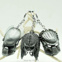 New Arrival Alien vs Predator movie Keychain 3pcs/lot Cool Metal Pendant Key Chains 12CM Silver Collection Toys Best Gifts(China (Mainland))