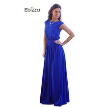 Buy Ebizza Vintage Party Women Long Dresses Blue Maxi Dresses Belt O Neck Sleeveless Floor Length Ladies 2017 Summer Vestidos for $10.30 in AliExpress store
