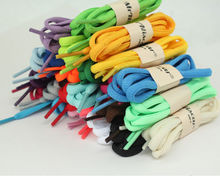 Colorful 1 Pair OVAL Athletic Sports Shoelaces Boot Round Sneaker Boots Shoelaces Shoe Laces Strings 47 Inch(China (Mainland))