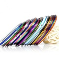 10pcs lot Gold Silver Color Striping Tape Metallic Yarn Line Nail Art Decoration Nail Stickers Decals