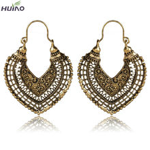 Heart Shape Hollow Design Bronze Plated Fancy Earrings For Women(China (Mainland))