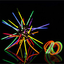 50pcs/lot Christmas Festivities Ceremony Multi Color Glow Fluorescence Sticks Bracelets Neon Party Bright Colorful Light(China (Mainland))