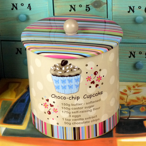 free shipping Pastry biscuits snacks miscellaneously Choco-chip cup cakestorage tin pehcans zakka storage tank(China (Mainland))