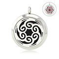Chain as gift 316l stainless steel diffuser locket 30mm magnetic perfume locket aromatherapy jewelry with crystals