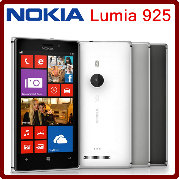 Unlocked Original Nokia Lumia 925 mobile phones 16GB 8MP camera Dual core 4.5 inch touch screen in stock Freeshipping(China (Mainland))