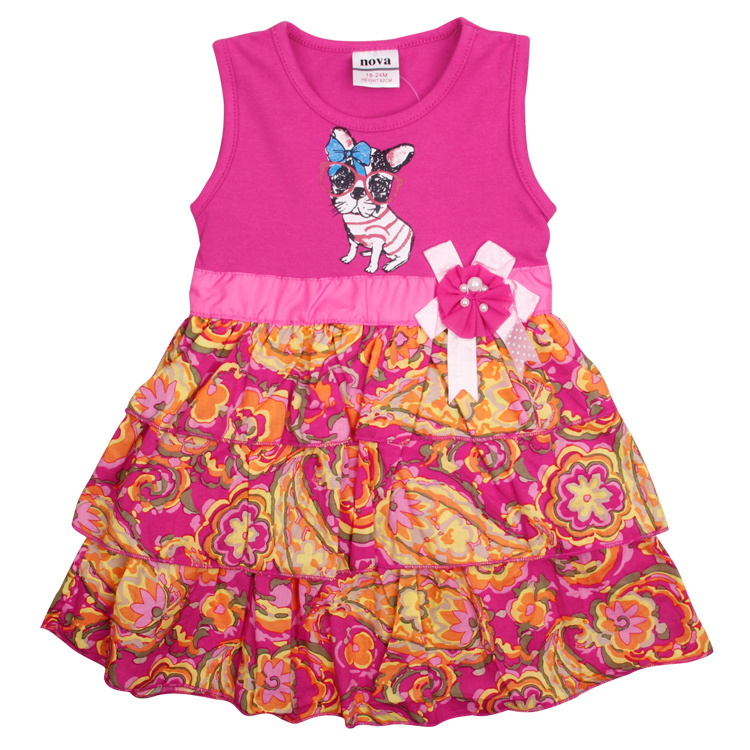 children dresses girl princess dress 2014 new nova baby &amp; kids clothing party evening dresses with lovely cat  H4838<br><br>Aliexpress