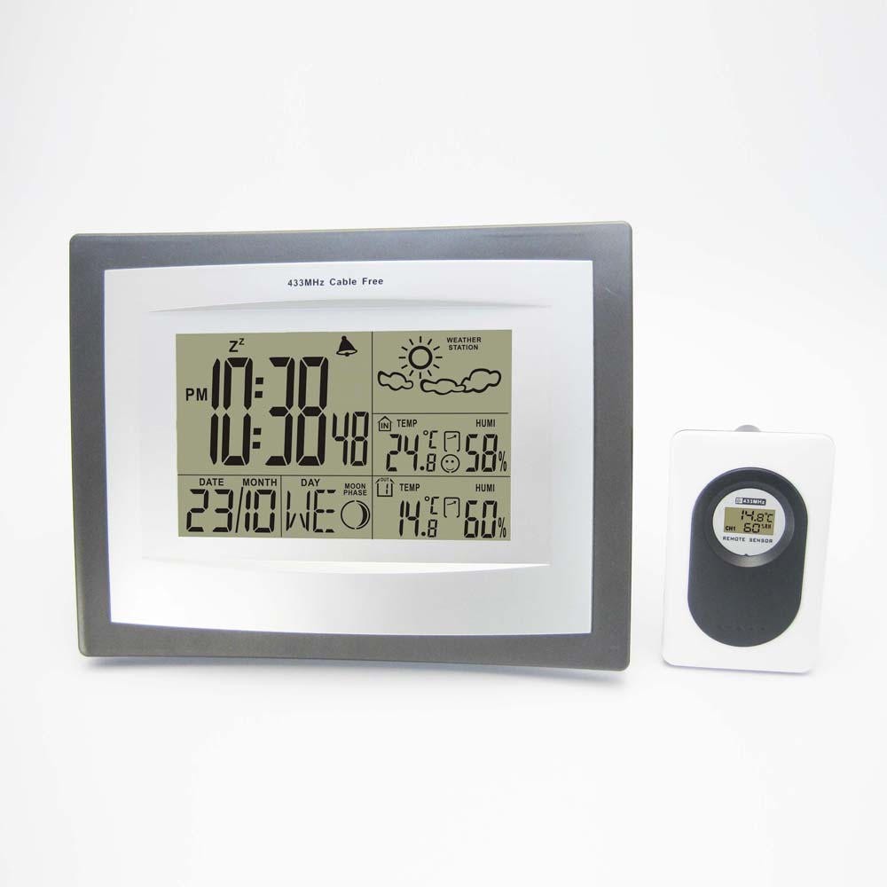 Wireless Weather Station with Indoor Outdoor Digital Thermometer Hygrometer Alarm Clock Weather Forecast Free Shipping