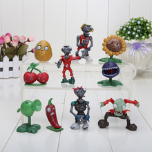 Buy 10pcs/set Plants vs Zombies PVZ Collection Figures Action Toy Figures children gift for $8.38 in AliExpress store