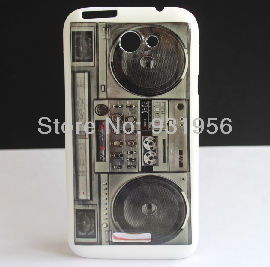 OLD RADIO CASSETTE PLAYER HARD COVER SKIN CASE FOR HTC ONE X S720e + FREE SCREEN(China (Mainland))