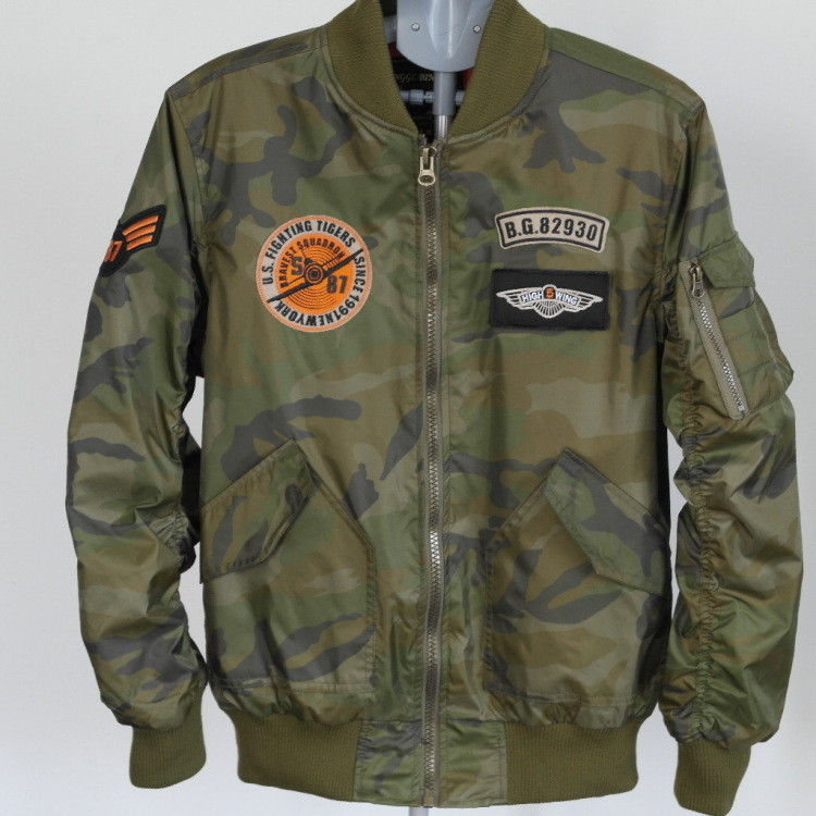 New 2015 men direct alpha Industries army bobber ma1 jacket casual ma-1 flight jacket(China (Mainland))