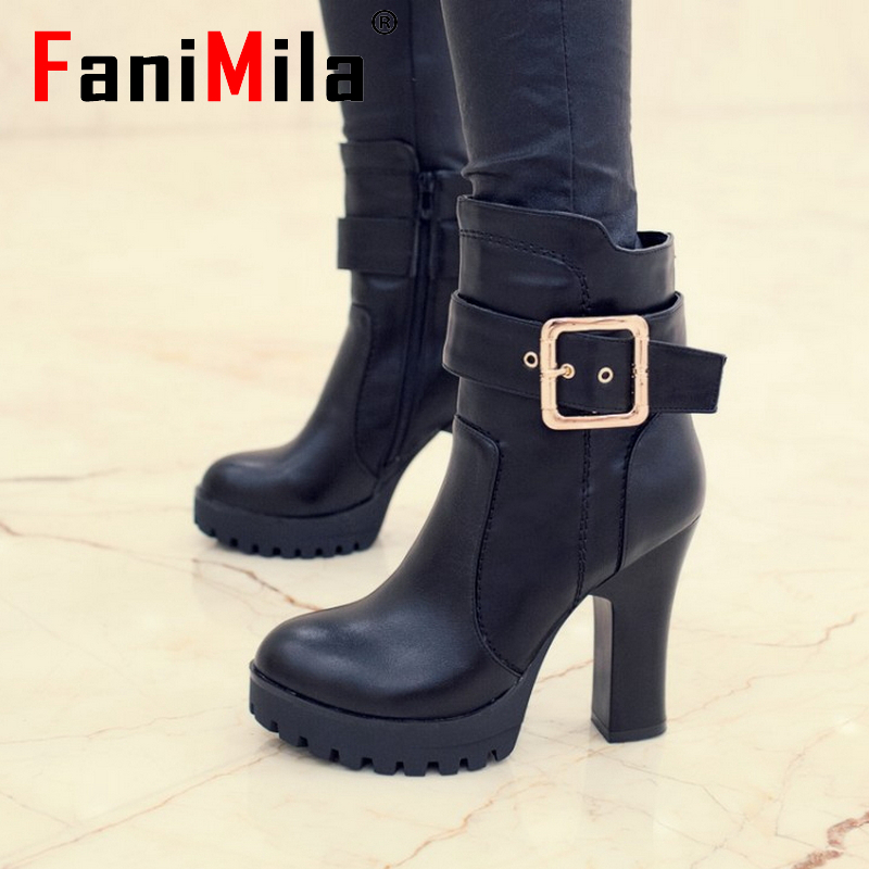 CooLcept Free shipping ankle half short natural real genuine leather high heel boots women snow boot shoes R5311 EUR size 34-39<br>