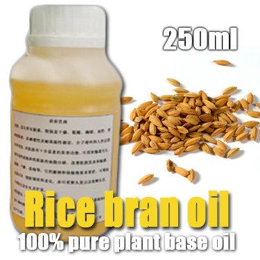 100% pure plant base oil Essential oils Rice Bran oil 250ml Skin care DIY handmade soap raw materials Moisturizing Whitening(China (Mainland))