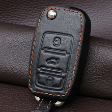 Buy Genuine Leather Car Key Cover Case Holder Set Vw Polo Golf 4 5 6 Mk6 Passat B5 B6 Jetta Tiguan Bora Fob Flip Remote Keychain for $9.41 in AliExpress store