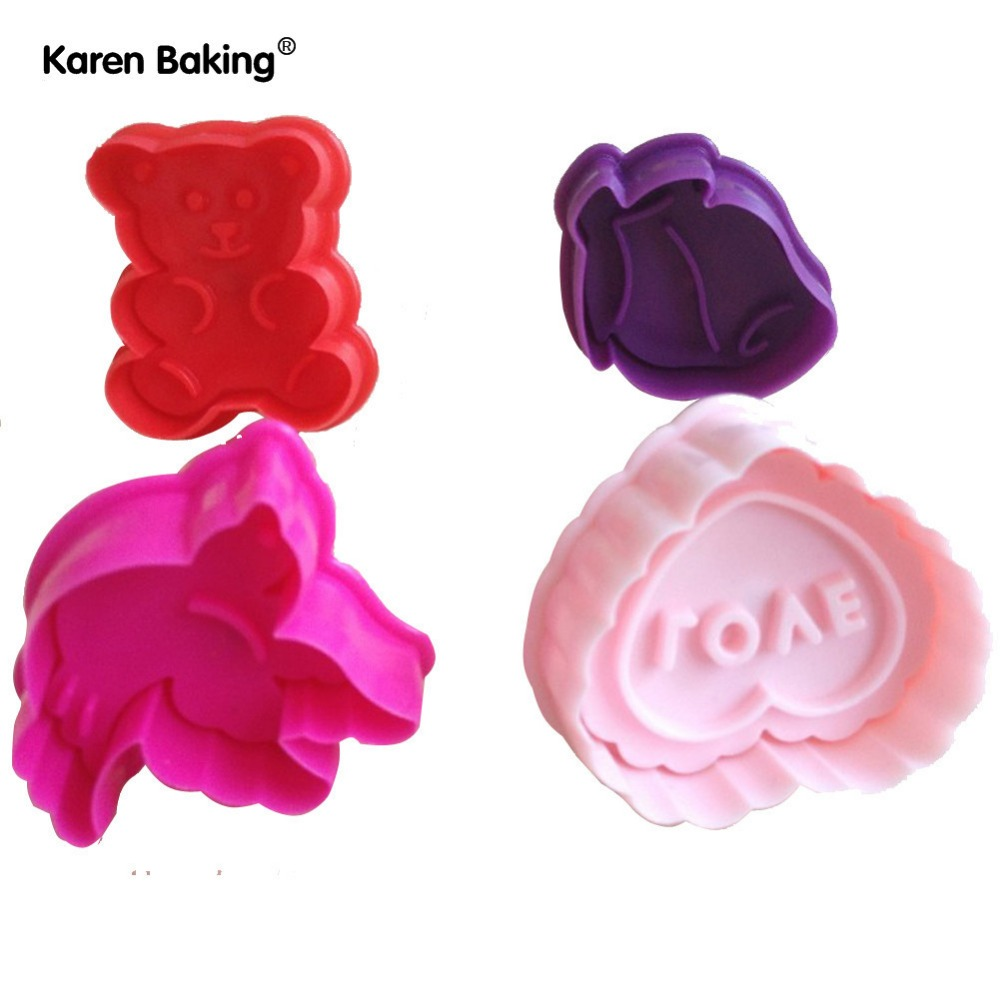 New 3D Cookie Cutter Cookie Stamp Bakeware Cake Decoration Tools Cake Mold A015(China (Mainland))