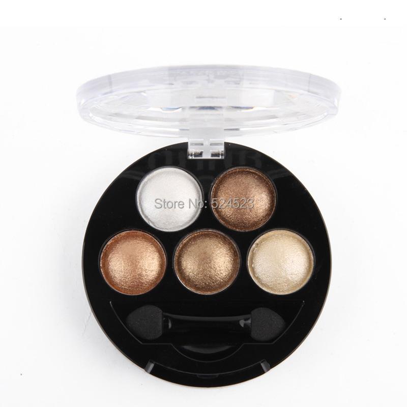 5PCS Brand New Pigment makeup Eyeshadow 5 Colors Eye Shadow Powder Metallic Shimmer Warm Color(China (Mainland))
