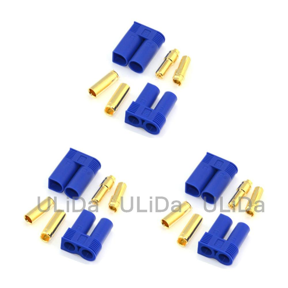 3 Pair Male & Female 5mm EC5 Super Bullet Connector for RC Battery HELICOPTER CAR Quadcopter Mulitcopter(China (Mainland))