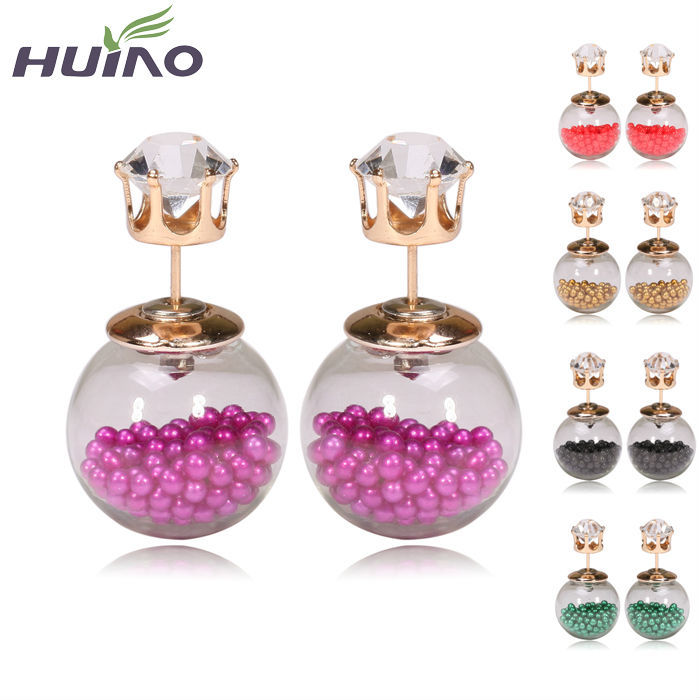 2015 Summer Style Earrings Fine Pearl Jewelry Women Summer Style Fashion Stud Earrings HourGlass Stud Earrings(China (Mainland))