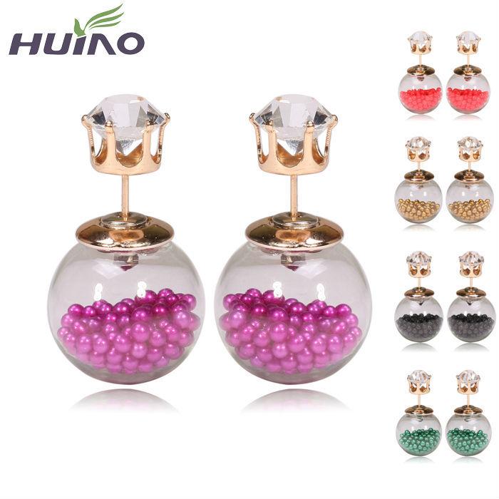 2015 Summer Style Earrings Fine Pearl Jewelry Women Summer Style Fashion Stud Earrings HourGlass Stud Earrings(China (Mainland))