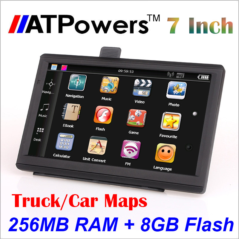 New 7 inch HD Car GPS Navigation 800M/ FM/8GB/256MB 2015 Maps For Russia/Belarus/Kazakhstan Europe/USA+Canada TRUCK Navigator(China (Mainland))