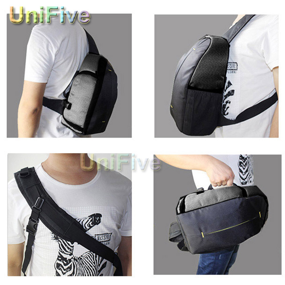 Sling Shoulder Waterproof video dslr camera bag For Nikon Canon Sony a58 600D 650D 700D 60D 70D D5300 D3200 D3300 D7100 D5200