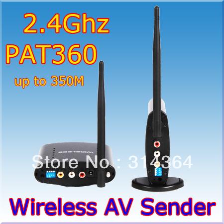 AV Sender Wireless Transmitter Receiver 350m,av sender and receiver,2.4ghz wireless av sender,Free Express Shipping(China (Mainland))