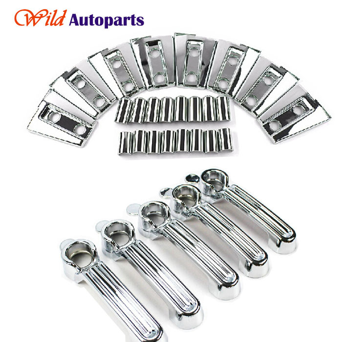 13pcs ABS Chrome Side Door Hinge Cover Trims +Door Handle Covers Set for Jeep Wrangler Jk 2007-2015(China (Mainland))