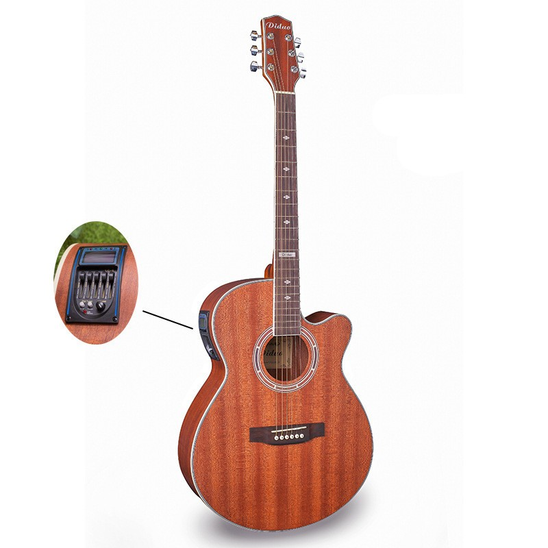 Wood color guitars 40-44 40 inch high quality Electric Acoustic Guitar Rosewood Fingerboard guitarra with guitar strings<br><br>Aliexpress