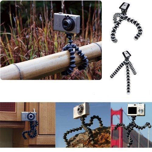 Generic Mini Flexible Tripod Stand Gorilla Holder Pod For GoPro HD Action Camera(China (Mainland))