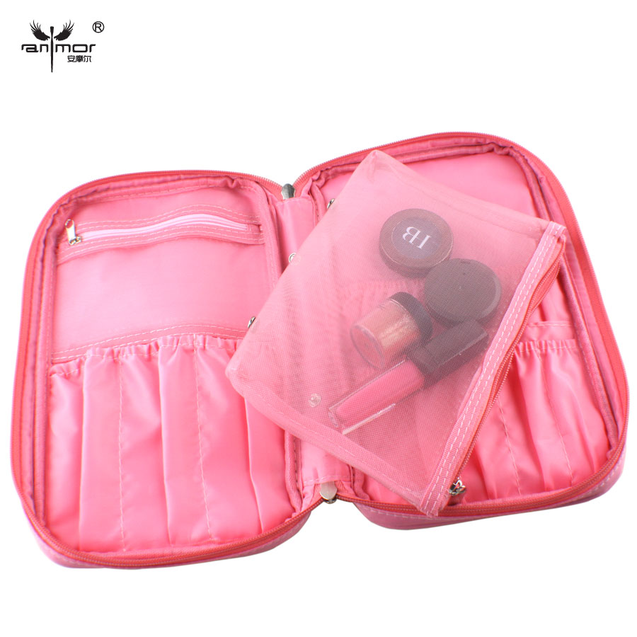 Beauty High Quality Zipper Brushes Pouch Cosmetics Bags Makeup Case Pink Brush Bag(China (Mainland))