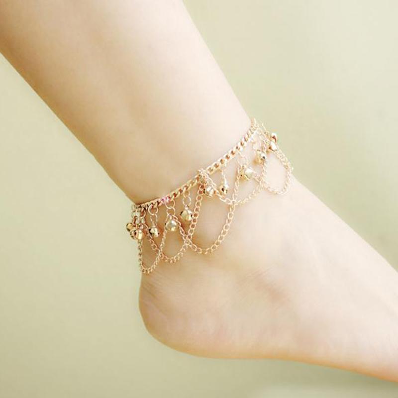 Brand New Tassel Anklet 2016 New Ankle Bracelet Pulseras Tobilleras Gold Anklets For Women Summer Fine Jewelry Barefoot BW587(China (Mainland))