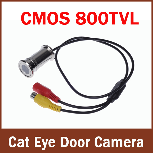 100% Brand New 800tvl Wired CCTV 1/4 CMOS 3.6mm (2.8mm)  Cat Eye Door Hole Security Color Camera<br><br>Aliexpress